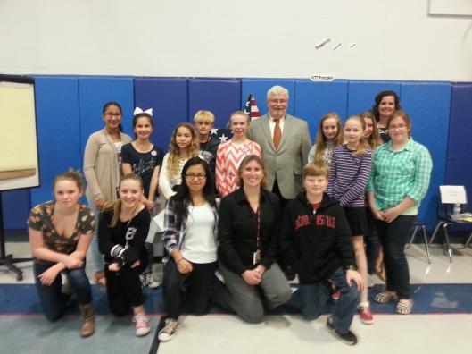 Senator Jack Latvala with the students of Cathy Fernandez!