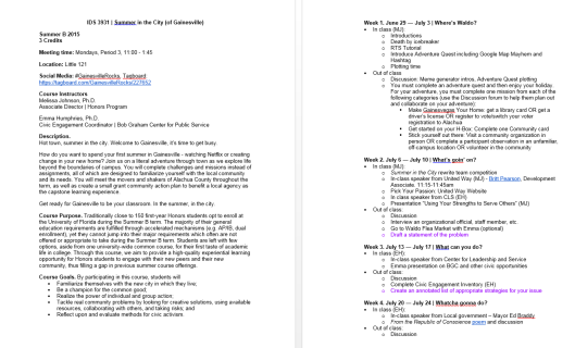 Syllabus for a course that could change the civic life of a college student