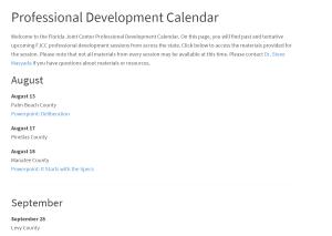 PD calendar