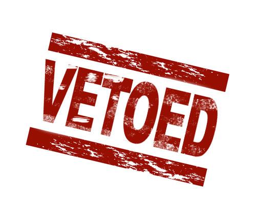 vetoed