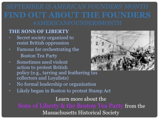 Sept 14 Sons of Liberty