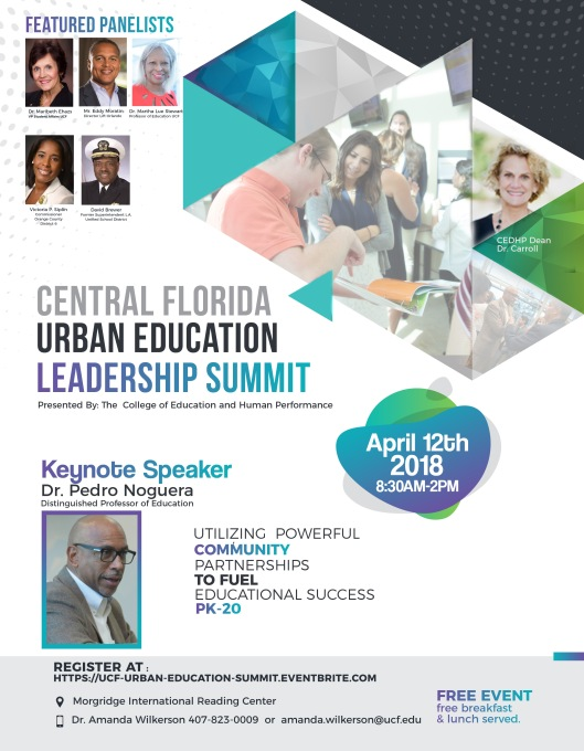 Central Florida Urban Education Leadership Summit_Official Flyer