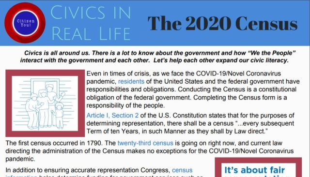 Civics in Real Life: The 2020 Census | Florida Civics