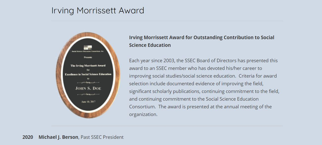 morriset award